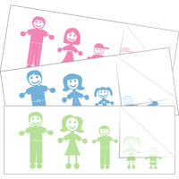 New Family Stick Figure Stickers and Decals