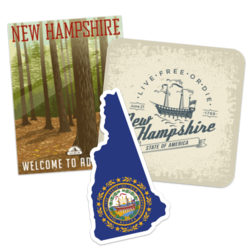 New Hampshire Car Stickers and Decals