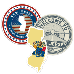 New Jersey Car Stickers and Decals