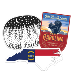 North Carolina Car Stickers and Decals