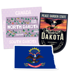 North Dakota Car Stickers and Decals