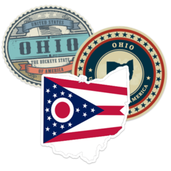 Ohio Car Stickers and Decals