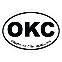 Oklahoma Cities Oval Car Stickers and Decals