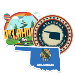 Oklahoma Car Stickers and Decals