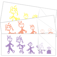 Original Family Stick Figure Stickers and Decals