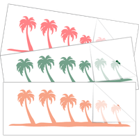 Palm Tree Family Stick Figure Stickers and Decals
