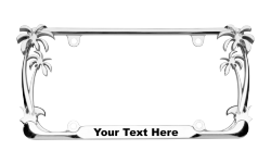Palm Tree License Plate Frames