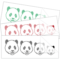Panda Bear Family Stick Figure Stickers and Decals