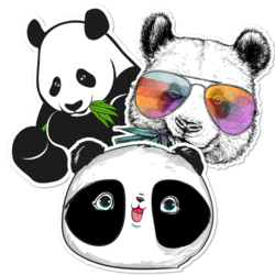 Panda Car Stickers and Decals