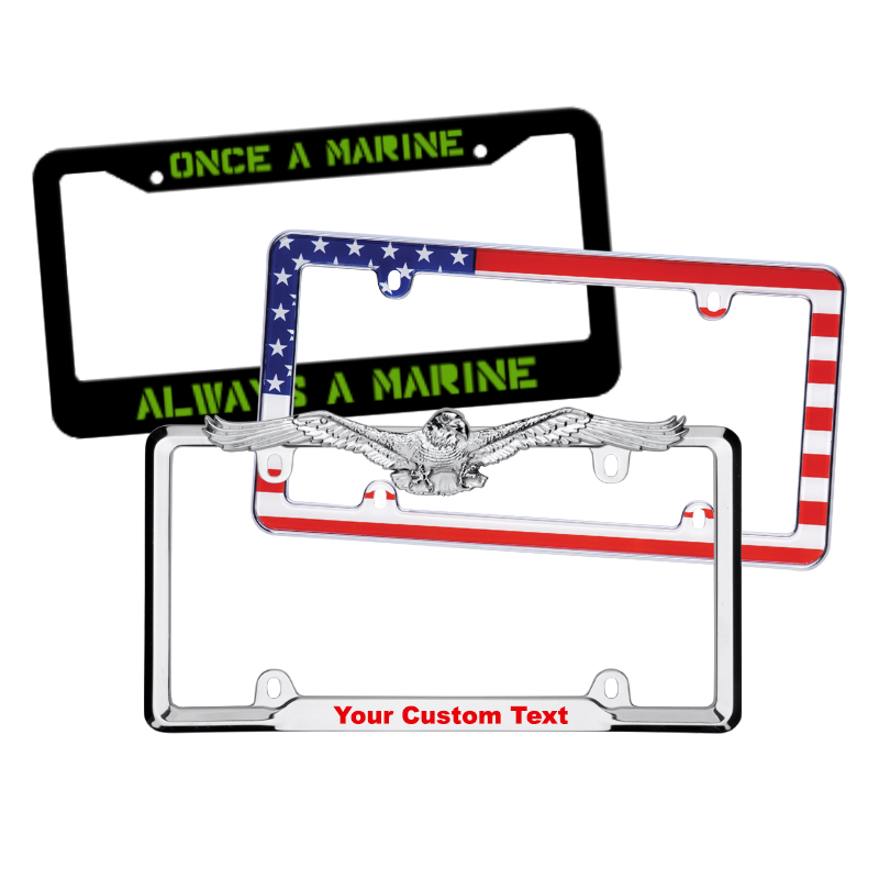 Patriotic License Plate Frames