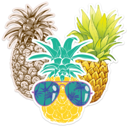 Pineapple Car Stickers and Decals