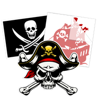 Pirate Car Stickers and Decals