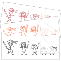 Pirate Family Sticker and Decal Singles