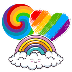 Rainbow Car Stickers and Decals
