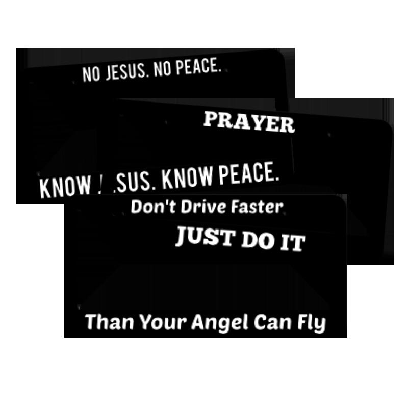 Religious License Plate Frames