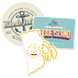 Rhode Island Car Stickers and Decals