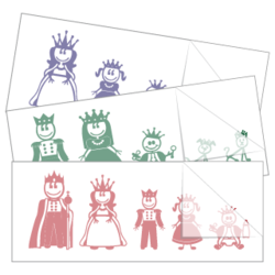 Royal Family Sticker and Decal Singles