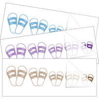 Sandals Family Stick Figure Stickers and Decals