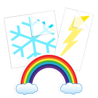 Seasons and Weather Car Stickers and Decals