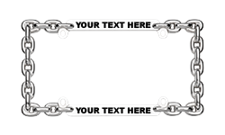 Skulls and Chains License Plate Frames