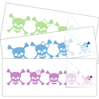 Skull Family Stick Figure Stickers and Decals
