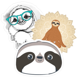 Sloth Car Stickers and Decals