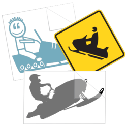 Snowmobile Car Stickers and Decals