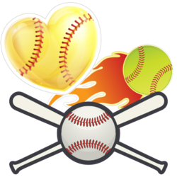 Softball Car Stickers and Decals