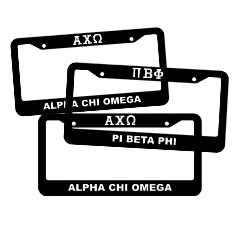 Sorority License Plate Frames