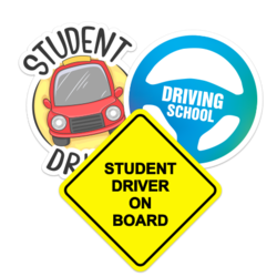 Student Driver Car Stickers and Decals