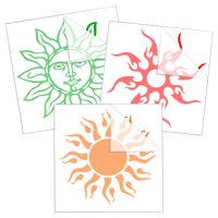 Sun Car Stickers and Decals