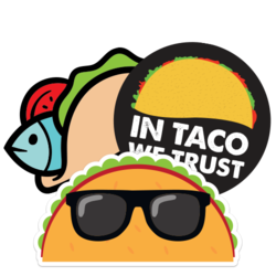 Taco Car Stickers and Decals