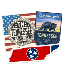 Tennessee Car Stickers and Decals