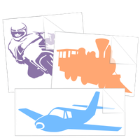 Transportation Stickers and Decals