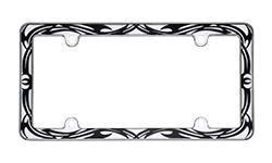 Tribal and Tattoo License Plate Frames