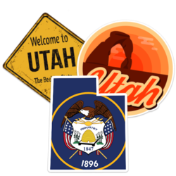 Utah Car Stickers and Decals