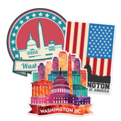Washington DC Car Stickers and Decals