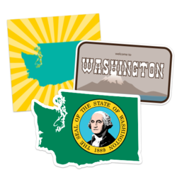 Washington Car Stickers and Decals