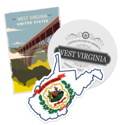West Virginia Car Stickers and Decals
