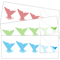 Whale Tail Family Stick Figure Stickers and Decals