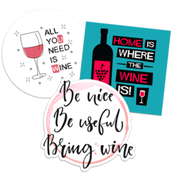 Wine Car Stickers and Decals