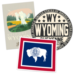 Wyoming Car Stickers and Decals