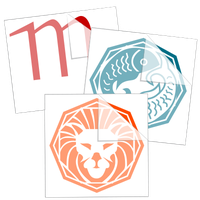 Zodiac and Astrology Stickers and Decals