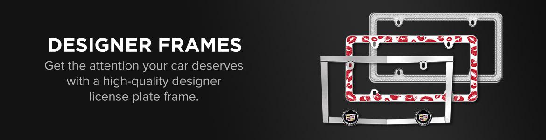 Blank Designer License Plate Frames