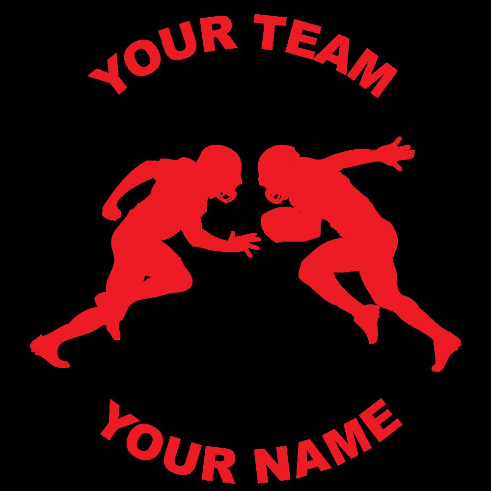Customize Any Football Fundraiser Sticker