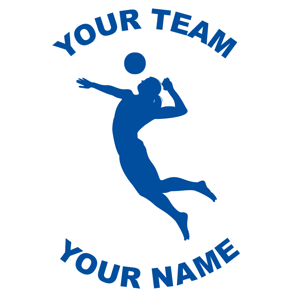 Customize Any Volleyball Fundraiser Sticker