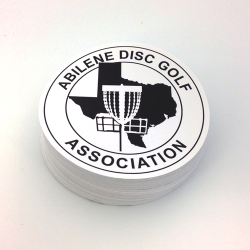 Abilene Disc Golf Association Custom Circle Stickers