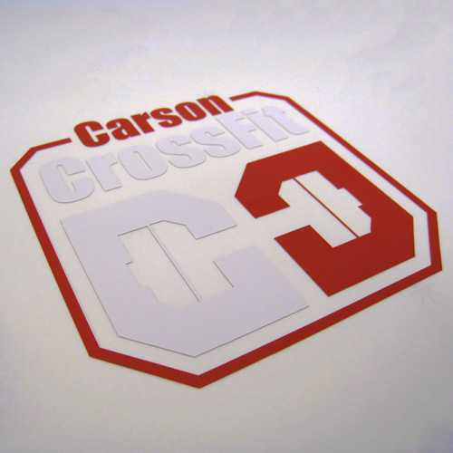 Carson Crossfit Custom Multi-Color Cut-Out Stickers