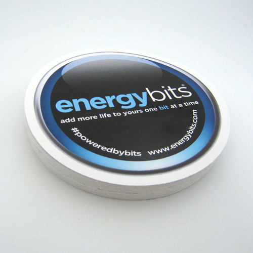 Energy Bits Custom Circle Stickers
