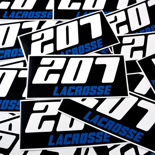207 Lacrosse Custom Rectangle Stickers